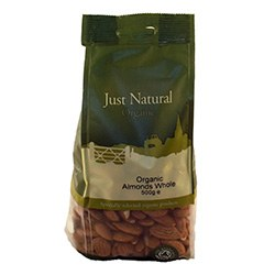 Just Natural Organic Org Almonds Whole 500g