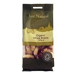 Just Natural Organic Org Brazils Whole 125g