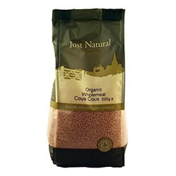Just Natural Organic Org Cous Cous Wholemeal 500g
