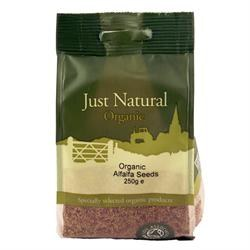 Just Natural Organic Org Alfalfa Seeds 250g