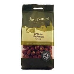 Just Natural Organic Org Hazelnuts 125g