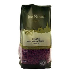 Just Natural Organic Org Red Kidney Beans 500g