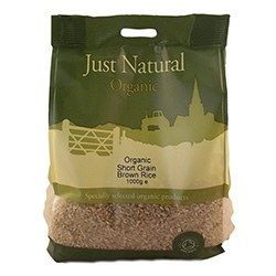 Just Natural Organic Org Short Grain Brown Rice 1000g