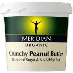 Meridian Org Crunch Peanut Butter 100% 1000g