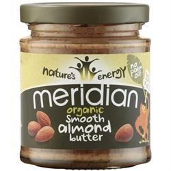 Meridian Org Smooth Almond Butter 100% 170g