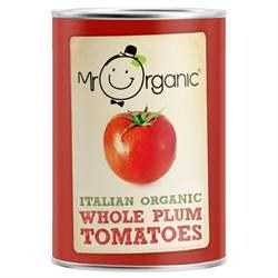 Mr Organic Org Whole Plum Tomato Tin 400g