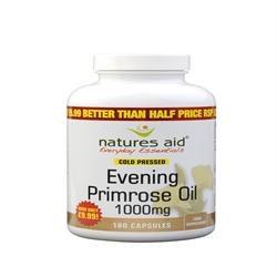 Natures Aid Promotional Packs Evening Primrose Oil 1000mg 180 Softgels