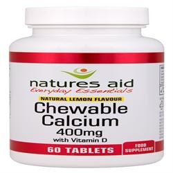 Natures Aid Calcium Chewable Lemon 400mg 60 tablet