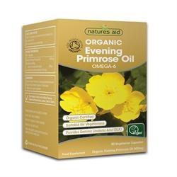 Natures Aid Organic Evening Primrose Oil 90vegicaps