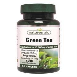 Natures Aid Green Tea 10000mg 60 Tablets