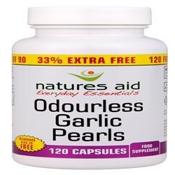 Natures Aid Promotional Packs Garlic Pearls 120 capsule