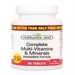 Natures Aid Promotional Packs Multi Vitamins & Minerals 90 tablet