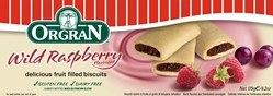 Orgran Raspberry Fruit filled Biscuit 175g