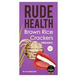 Rude Health Organic Brown Rice Crackers 130g