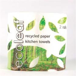 Suma Wholefoods Ecoleaf 3 Ply Kitchen Towel Twin roll packpack