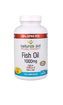 Natures Aid Promotional Packs Fish Oil 1000mg 60 free 240 Softgels