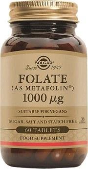 Solgar Folate 1000 g (as Metafolin( 60