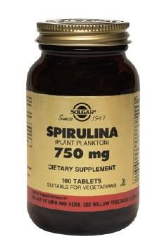 Solgar Spirulina 750 mg Tablets 100