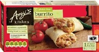 Amys G/F Ched Rice Bean Burrito 156g