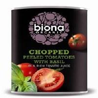 Biona Chopped Tomatoes & Basil Org 400g