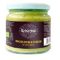 Biona Org Horseradish Mustard 125g