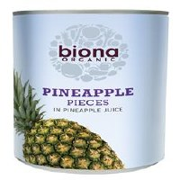 Biona Org Pineapple Pieces in Juice 400g