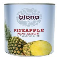 Biona Org Mini Pineapple Rings 425g