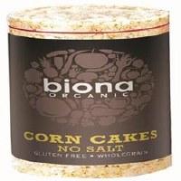 Biona Org No Salt Corn Cakes 110g