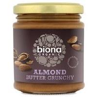 Biona Almond Butter Crunchy Org 170g