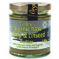 Carley's Org Raw Hemp & Linseed Butter 170g