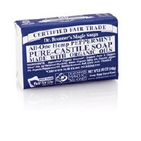 Dr Bronner Org Peppermint Soap Bar 140g