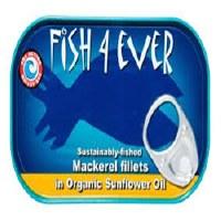 Fish 4 Ever Mackerel Fillet Sunflower Oil 120g