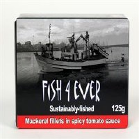 Fish4Ever Mackerel Fillets in Spiced Tom 120g