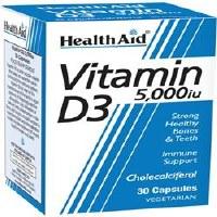 HealthAid Vitamin D3 5000iu 30vegicaps