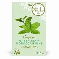 Heath And Heather Organic Green Tea & Moroc Mint 20bag