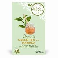 Heath And Heather Org Green Tea & Manuka Honey 20bag