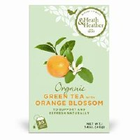 Heath And Heather Organic Green Tea & Orange 20bag