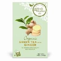 Heath And Heather Organic Green Tea & Ginger 20bag