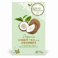 Heath And Heather Organic Green Tea & Coconut 20bag