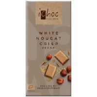 iChoc White Nougat Crisp vegan 80g
