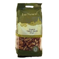 Just Natural Organic Org Walnut Halves 250g