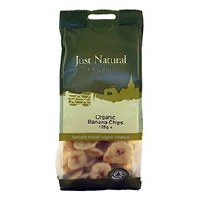 Just Natural Organic Org Banana Chips 125g