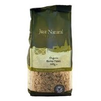Just Natural Organic Org Barley Flakes 500g