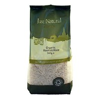 Just Natural Organic Org Basmati White Rice 500g