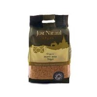 Just Natural Organic Org Sesame Seeds Unhulled 250g