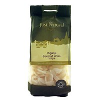 Just Natural Organic Org Coconut Chips Raw 125g