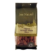 Just Natural Organic Org Almonds Whole 125g