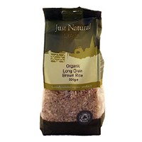 Just Natural Organic Org Long Grain Brown Rice 500g