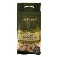 Just Natural Organic Org Cashews Whole 125g