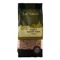 Just Natural Organic Org Sesame Seeds Hulled 125g